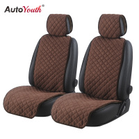 Fashionable Car Seat Cushions Car Seat Covers Microfiber Auto Seat Protector Car Protector Nonslip for Front of 2 Seats Brown