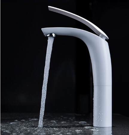 New Hot sell Brass Baking finish bathroom basin Faucet / Fashion 6 Colors Hot and Cold Water Mixer Tap / Black&White&Red pastoralism and agriculture pennar basin india