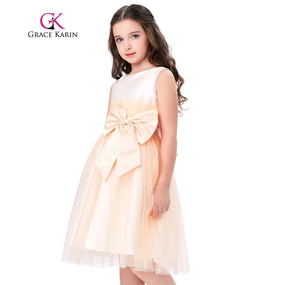Grace karin first communion dresses for girls light orange for Dresses for girls for wedding