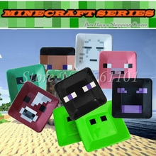 Newest 80 pcs/lot 8 Colors Minecraft Creeper Steve Paper Plates  Model TNT Enderman Paper Plates Toy Birthday Party Decoration