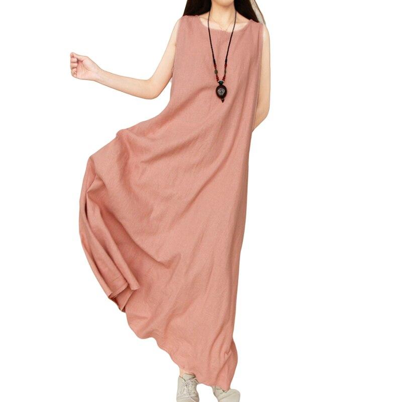 Для женщин летние большие размеры Ретро Винтаж платье Костюмы хлопок большие качели вече ...