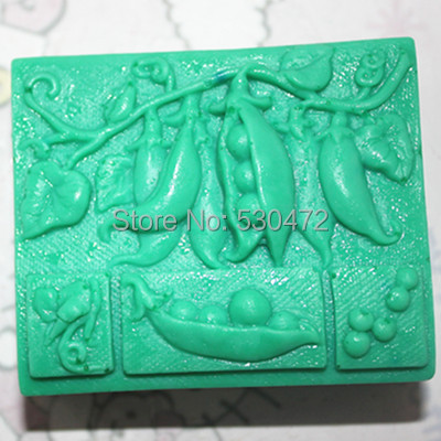 1 pcs C290 Lentils clay pottery mould silicone cake mold soap Mold FM
