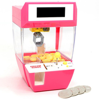 Kids Coin Operated Play Game Mini Claw Hanging Doll Machine CATCHER Toy Crane Machines Children Candy Alarm Clock Birthday Gifts