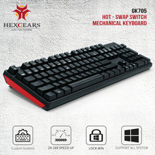 HEXGEARS GK705 Hot Swappable Mechanical Keyboard 104 Keys Kailh Box Switch Gamer Keyboard  for Computer Clavier Gaming Keyboard