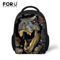 Coo 3D Dinosaur Children School Bags Zoo Animals Printing Small Shoulder Bag Kids Schoolbags For Boys Kindergarten Baby Bookbag