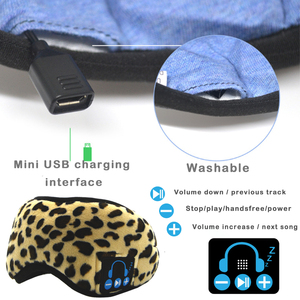 Image 5 - JINSERTA Wireless Bluetooth 5.0 Stereo Earphone Soft Washable Sleeping Eye Mask Headset Music Player with Mic Support Handsfree