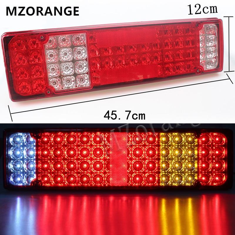 MZORANGE 2 PCS Car Caravan LED Trailer Tail Lights 12V/24V 52 LED Trailer Truck Van Camper Rear Tail Stop Fog Indicator Light dodge caravan iv купить бу
