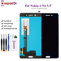 10Pcs For Nokia 6 LCD Tested AAA 5.5 inch Display For Nokia 6 Display with Touch Screen Digitizer Assembly Replacement Parts N6