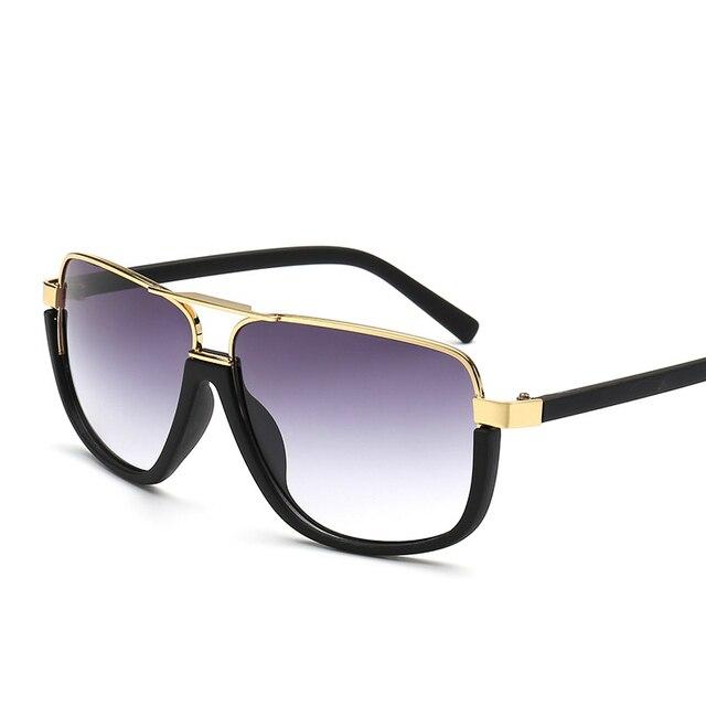 8dd65d0186 Fashion European Unique Oversized Sunglasses Semi-Frame Rimless Men Stylish  Glasses UV400