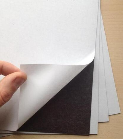 Size 145*210mm Self Adhesive Magnetic Rubber Sheet 0.7mm Sticky Flexible Van Sign 1/3/5/10 You Choose Quantity