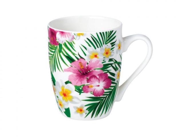 Кружка RAINBOW, Тропические цветы, 340 мл