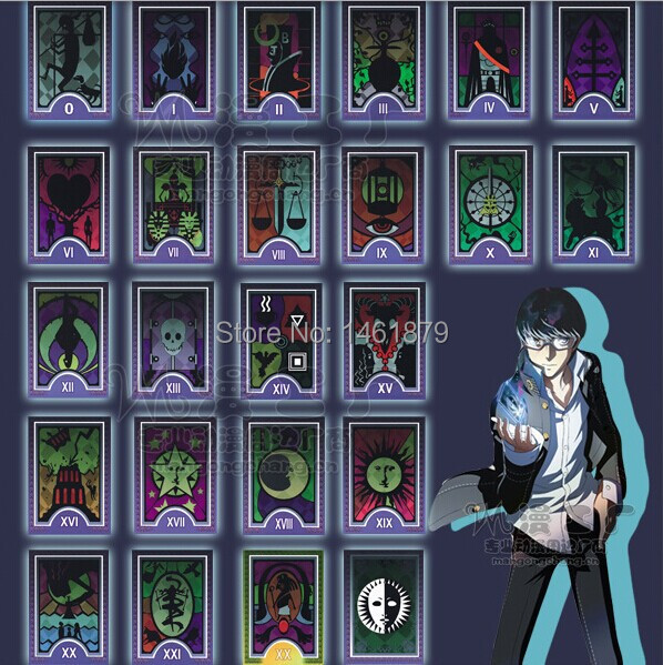 Creative Anime Games Persona 4 Arena Ultimax Tarot Cards Cosplay Game 23 Cards One Set Costume Props