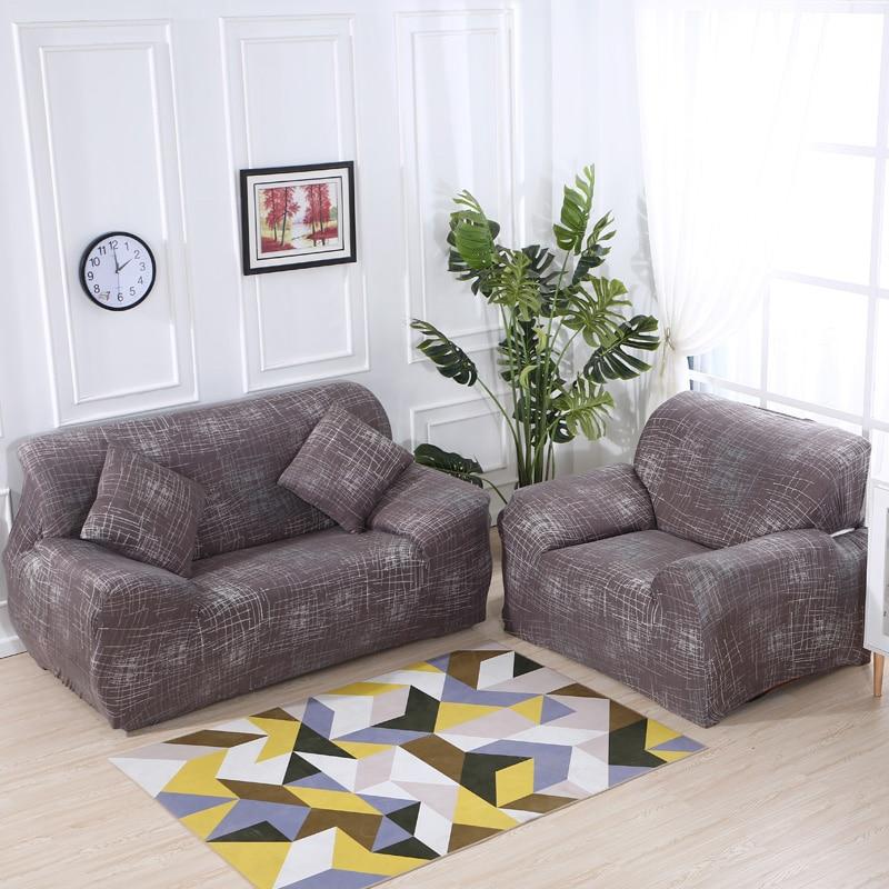 Sofa Cover Modern Brief brown Printing Soft Modern Slip