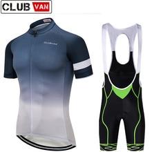 clubvan Pro Team Men Bike Gel Bib Shorts Ropa Ciclismo Breathable Quick Dry