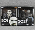 "Free Shipping Cute 4"" Nendoroid Star Wars Stormtrooper and Darth Vader Boxed PVC Action Figure Model Collection Toy #501 #502"