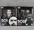 """Frete grátis bonito 4 """" Nendoroid Star Wars Stormtrooper e Darth Vader encaixotado PVC Action Figure modelo coleção Toy # 501 # 502"""