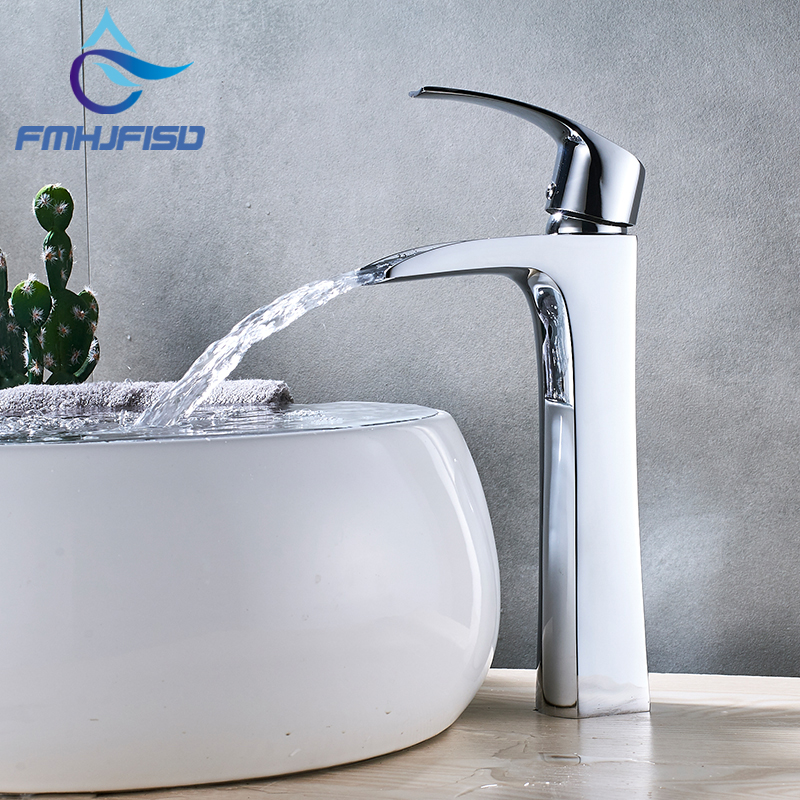 Basin Faucets Modern Chrome Bathroom Faucet Waterfall faucets Single Hole Mixer Cold and Hot Water Tap xogolo fashion waterfall faucet for bathroom chrome single hole basin faucet mixer new arrival cold and hot sink tap