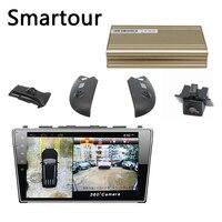 Smartour car 360 Degree 3D HD Bird View Panorama System surround view system Special for Honda Odyssey Car DVR 1280P Recording