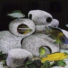 Pecute 1 шт. цихлид камень аквариумный Аквариум Украшение для пруда украшение для разведения креветок Рок Пещера керамические камни Akvaryum Rock