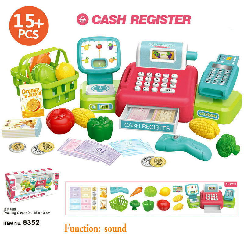 Crianças Brinquedos Supermercado POS Cash Register com