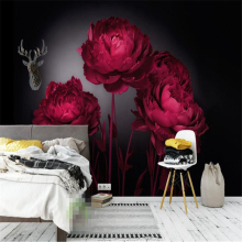 Beibehang 3D wallpaper romantic red roses TV background wall living room bedroom background mural photo wallpaper for walls 3 D  цена