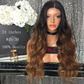 180 Density Peruvian Virgin Bleached Knots Full Lace Wig 2 Tone Color 1b/30 Ombre Glueless Lace Front Wigs Human Hair U Part Wig