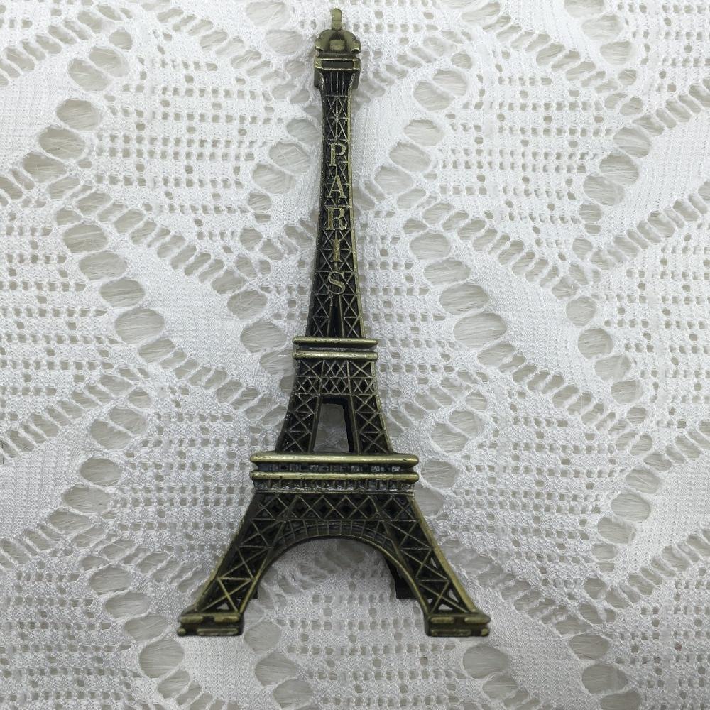 8cm Vintage Metal Crafts Paris Eiffel Tower Model Creative Wedding ...