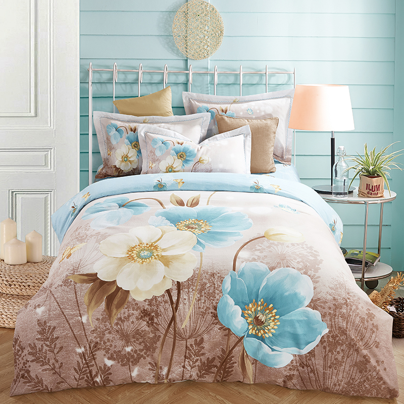 Hongbo 4 Pcs/Set Home Bedding Duvet Cover Set Super Bedclothes Adults Bedding Set 100% Cotton Duvet Cover ...