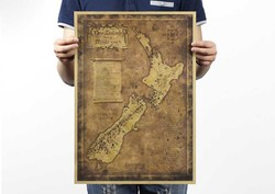Lord of the rings the hobbit map of middle-earth, movie posters, restoring ancient ways map kraft paper adornment picture poster