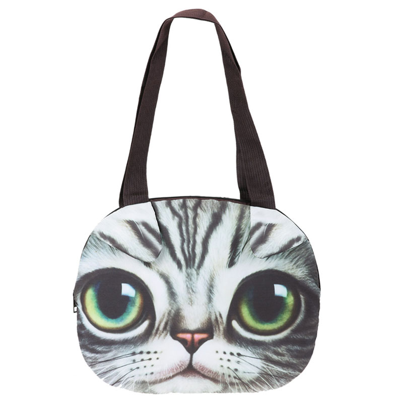 Hot Cute 3D Cat Face Women Handbag Canvas Bag Women Messenger Bag Animal Canvas Shoulder Bag Bolsa Tote