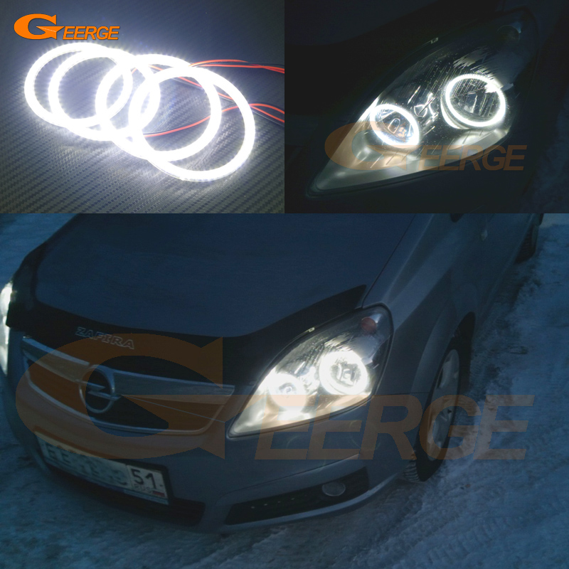 For Opel Zafira B 2005-2014 headlight Excellent Angel Eyes Ultra bright illumination smd led Angel Eyes Halo Ring kit