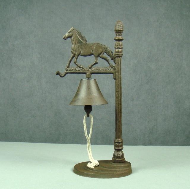 Vintage Cast Iron Horse Desk Bell Antique Metal Handbell Ornament Craft  Accessories for Art Collection and - Vintage Cast Iron Horse Desk Bell Antique Metal Handbell Ornament