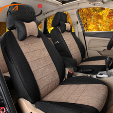 AutoDecorun Automobile Seat Covers for Chrysler Grand Voyager Car Seats Cushion Cover Set Supports Protector Accessories Styling