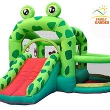 Надувной замок Bounceland W/ползунок для бассейна надувной лягушка отскакивает домашний батут Moonwalk с воздуходувкой
