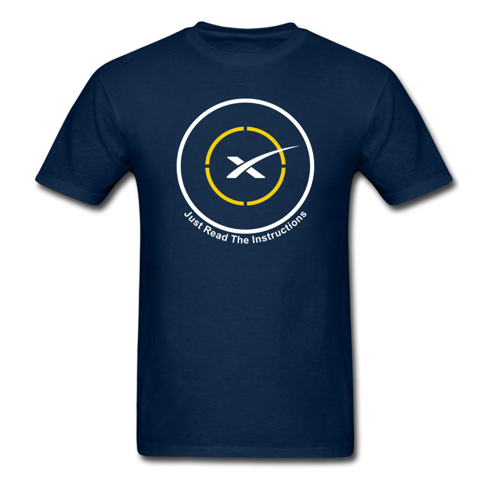 Autonomous spaceport drone ship of SpaceX Just Read the Instructions T-Shirt Men and Wom ...