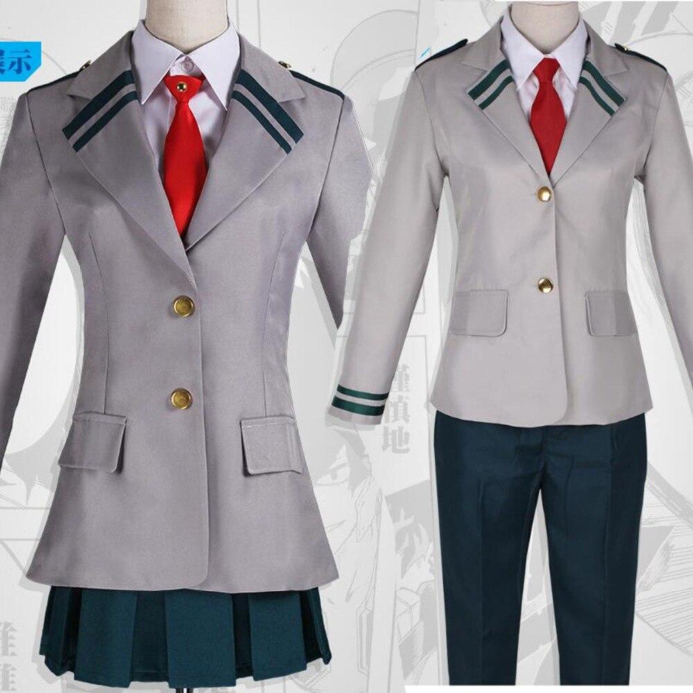 Us 52 79 20 Off Anime My Hero Academia Ochaco Uraraka School Uniform Katsuki Bakugo Cosplay Costume Uniform Outfit On Aliexpress