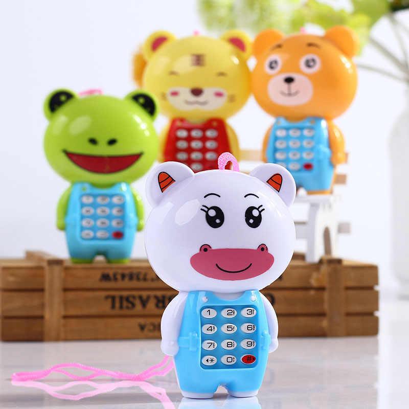 Mainan Elektronik Telepon untuk Hewan Anak-anak Terdengar Digital Vokal Bersinar Ponsel Musik Bayi Belajar Pendidikan Mainan