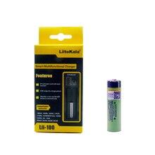LiitoKala 18650 3400 мАч 18650 Li-Ion Перезаряжаемые Батарея (NO печатной платы) + Lii-100 USB литий NiMH Smart Батарея Зарядное устройство
