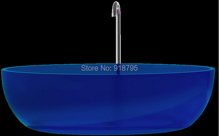 1700x800x480mm Novo Design Cor Sólida Free Standing Banheira Oval Forma RS6589-1-0