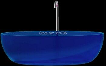 1700x800x480mm Novo Design Cor Sólida Free Standing Banheira Oval Forma RS6589-1