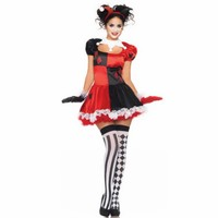 New Costume Women Carnival Funny Clown Costume For Adult Circus Cosplay Halloween Costumes For Women Carnival