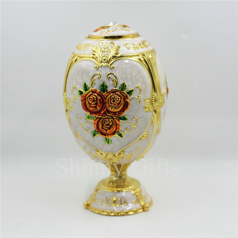 Guangzhou manufacturer rose design faberge egg luxury toothpick holder enamel craft in toothpick - Luxury toothpicks ...
