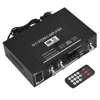 Top Deals EU plug G30 MP3 Music HiFi Stereo Amplifier USB/TF Card/AUX Bluetooth HiFi Amplifier FM Radio with Remote
