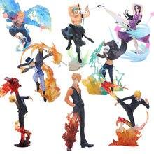 Anime uma peça figura shanks sanji figura sabo boa hancock trafalgar lei uma peça marco batalha ver. PVC Modelo Brinquedos