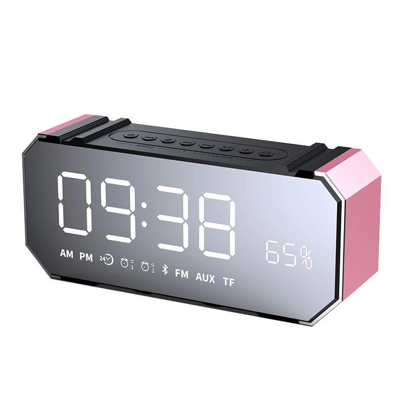 Portable Bluetooth Speaker Column Wireless Stereo Soundbox Mic Support Time FM Clock Radio Alarm LED Speaker for Laptop Phone portable wireless speaker bluetooth speaker wireless charger for phone iphone fm radio alarm bass sound 3d stereo music xiaokoa
