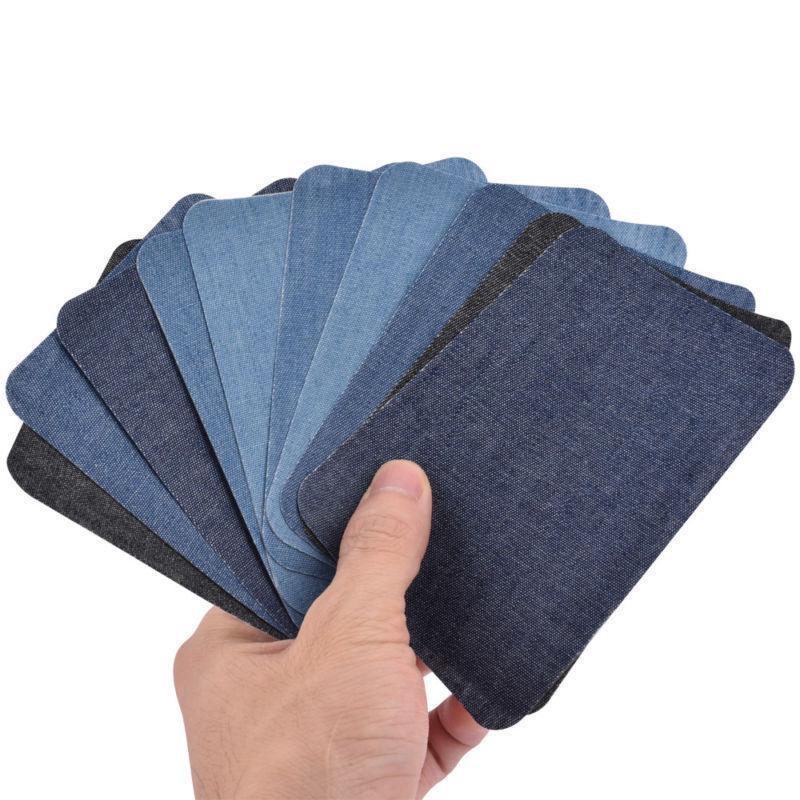 YHYS 10 pièces thermocollant fer sur réparation patchs Jeans sac chapeau réparation décor Design