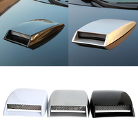 Turbo Bonnet Vent Cover Car Stickers Air Flow Intake Scoop Side Vents Decorative Car Styling Universal