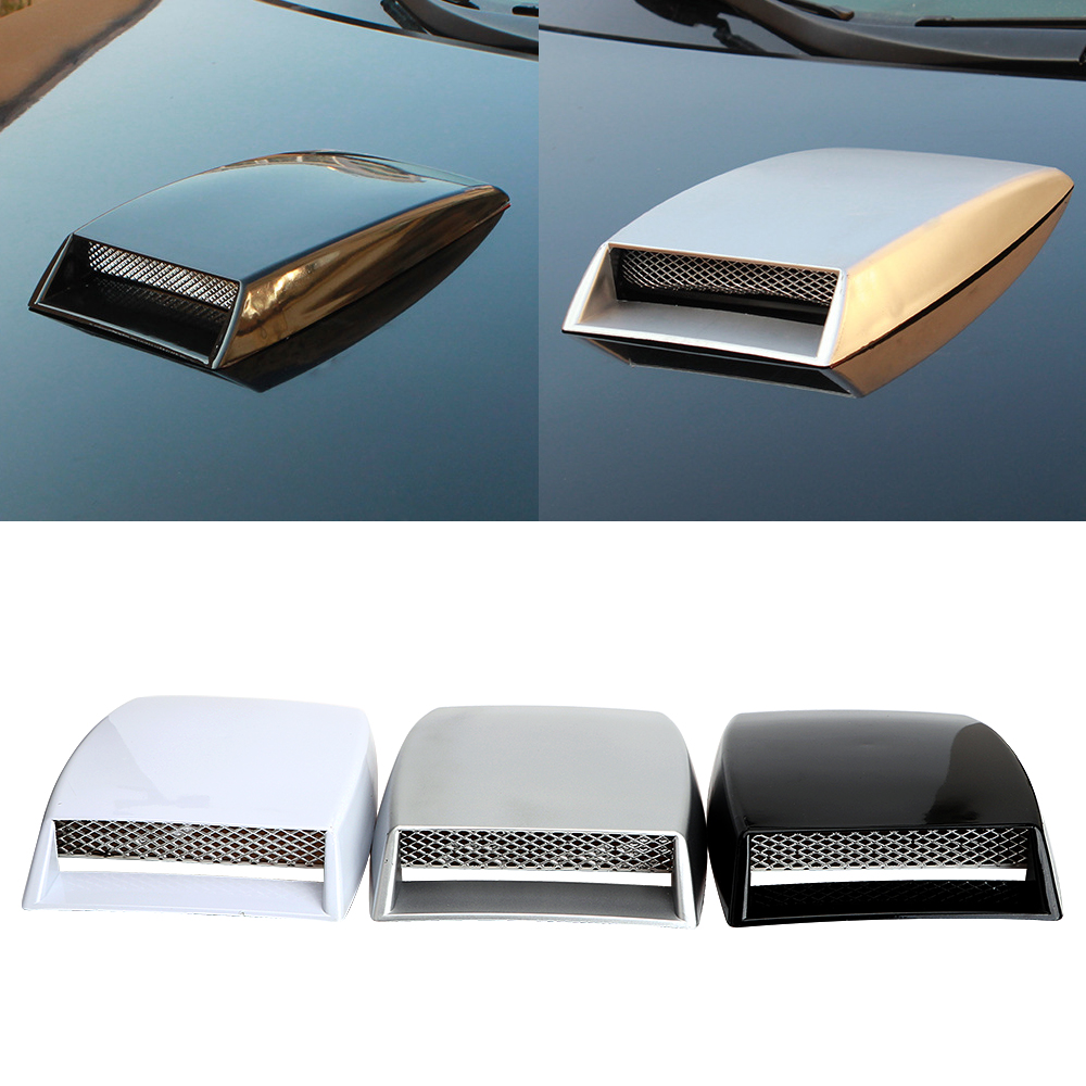 Turbo Bonnet Vent Cover Car Stickers Air Flow Intake Scoop Side vents decorative Car Styling Universal Auto Exterior Accessories epman universal 3 aluminium air filter turbo intake intercooler piping cold pipe ep af1022 af