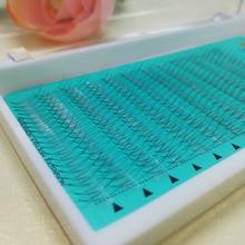 Роскошные короткие стволовых русский объем ресниц 2D ресницы расширение для профессионалов готовых Вентиляторы 2D ресниц