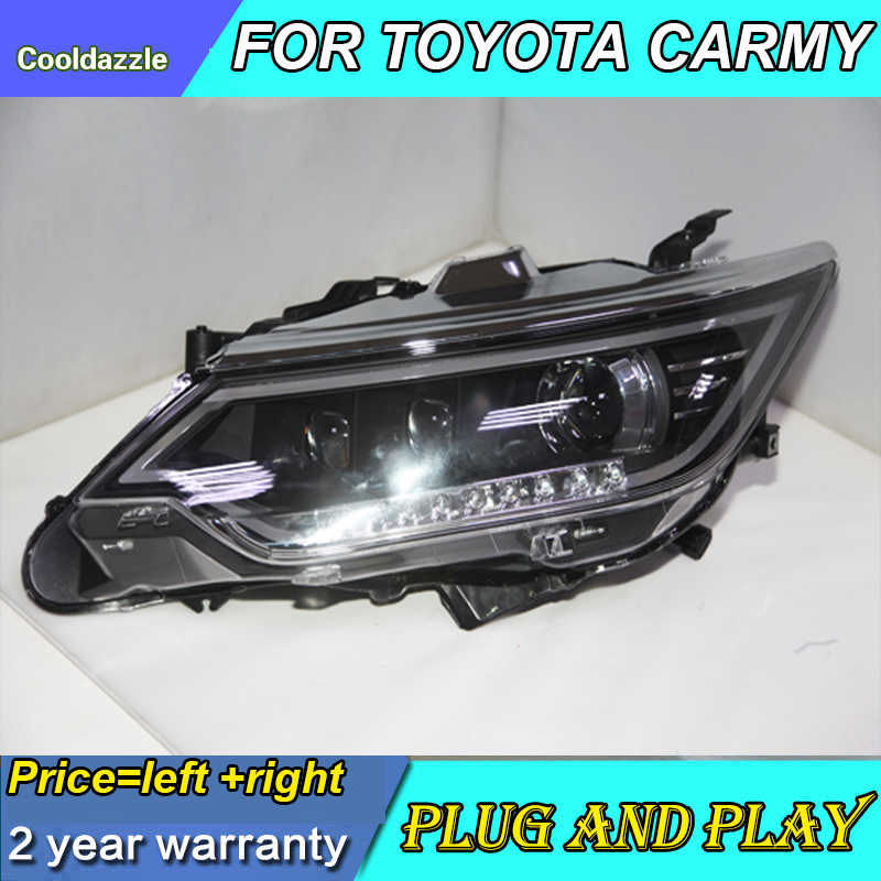 2015 Year For Toyota Camry Headlights Head Lamp Front Lights Turning Signal Daytime Running Lights